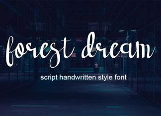 forest dream script handwritten fontScript Font