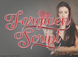 Forgiven Script Font