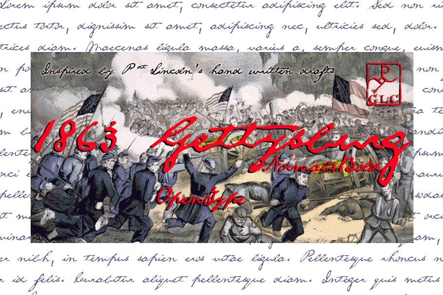 Gettysburg Set Font
