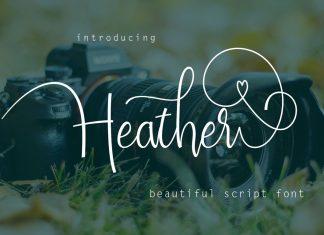 Heather Script Font