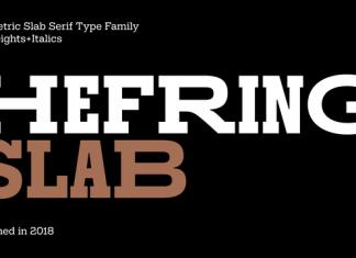 Hefring Slab Font Family