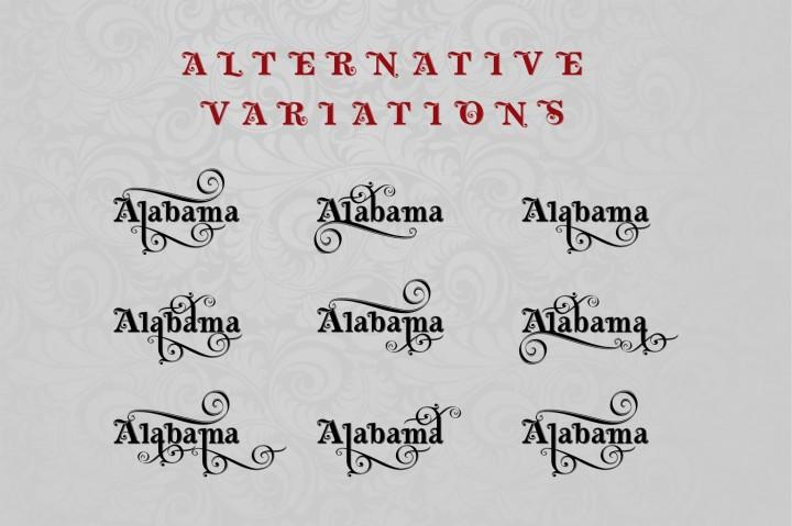 Heritage calligraphic typeface Font
