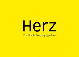 HERZ - Simple Sans Serif Typeface