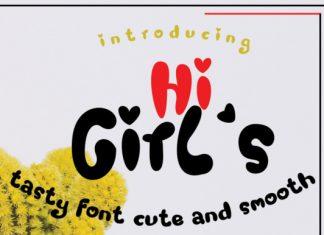 Hi Girl's Font