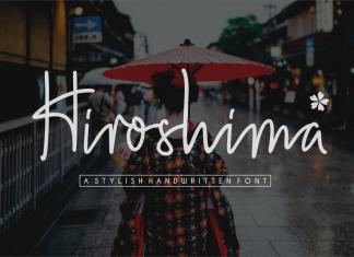 Hiroshima - a stylish handwritten Script Font