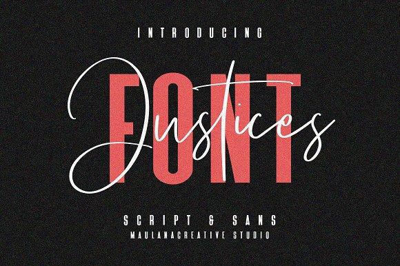 Justices Script Font