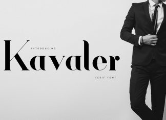 Kavaler - serif fontRegular Font