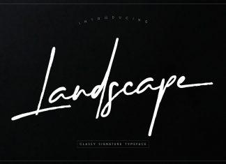 Landscape Script Font