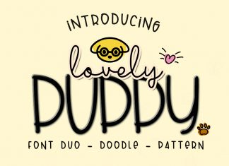 Lovely Puppy - Font duo with bonus Regular Font