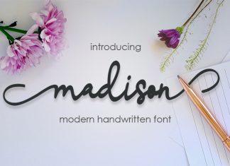 madison script Font