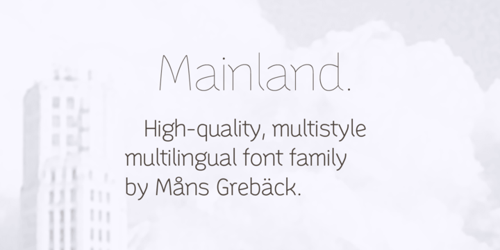 Mainland Font Family