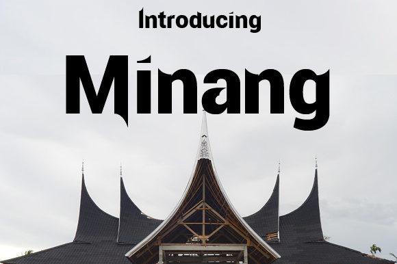 Minang Sans Serif Font