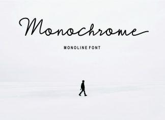 Monochrome Script Font