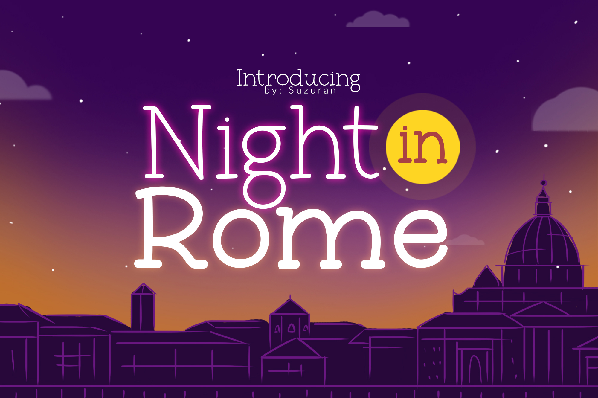 Night in RomeOther Font
