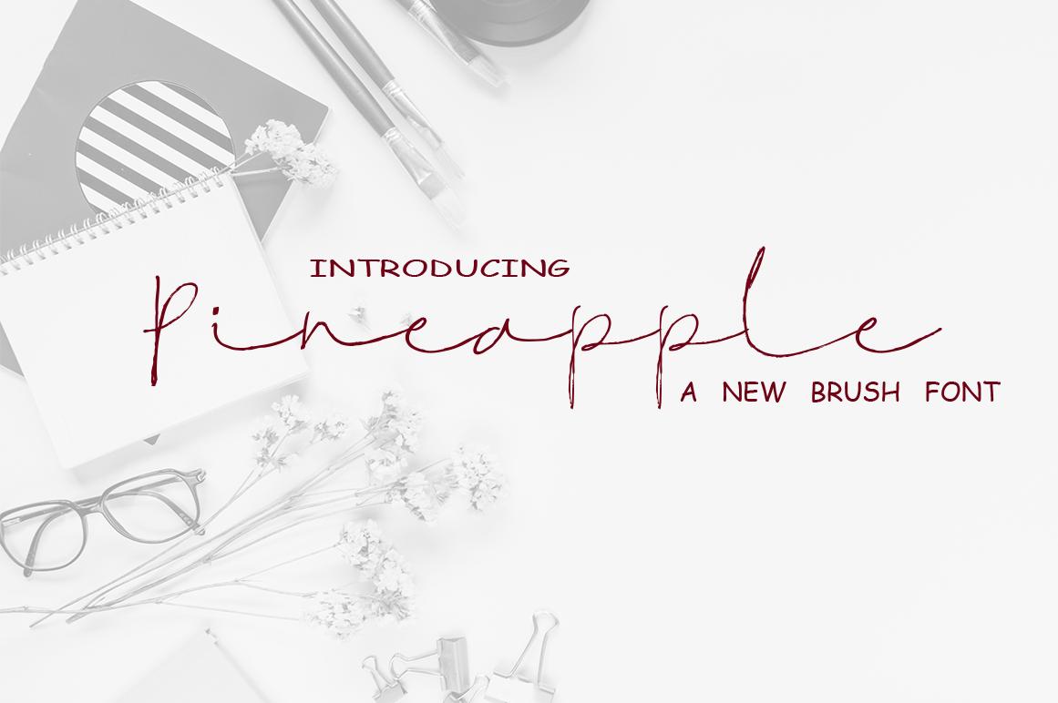 Pineapple Script Font