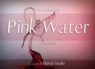 Pink Water Font Regular Font