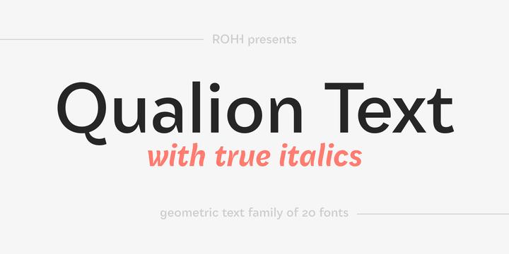 Qualion Text Font Family