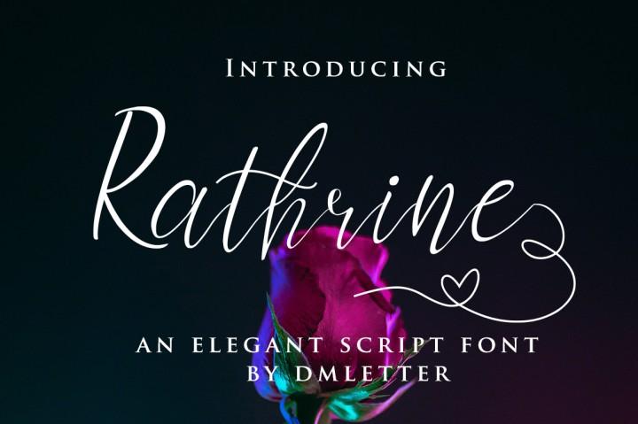 Rathrine - Elegant Script Font