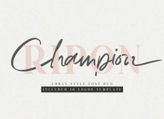 Ripon Font Duo Free 10 Logos