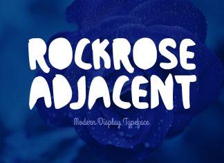 Rockrose Adjacent Regular Font
