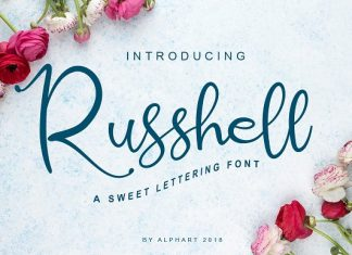 Russhell a sweet lettering font