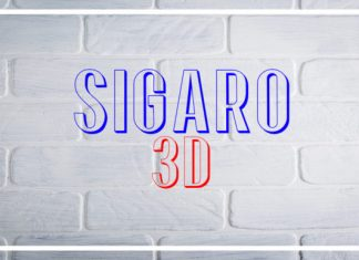 Sigaro 3D Font