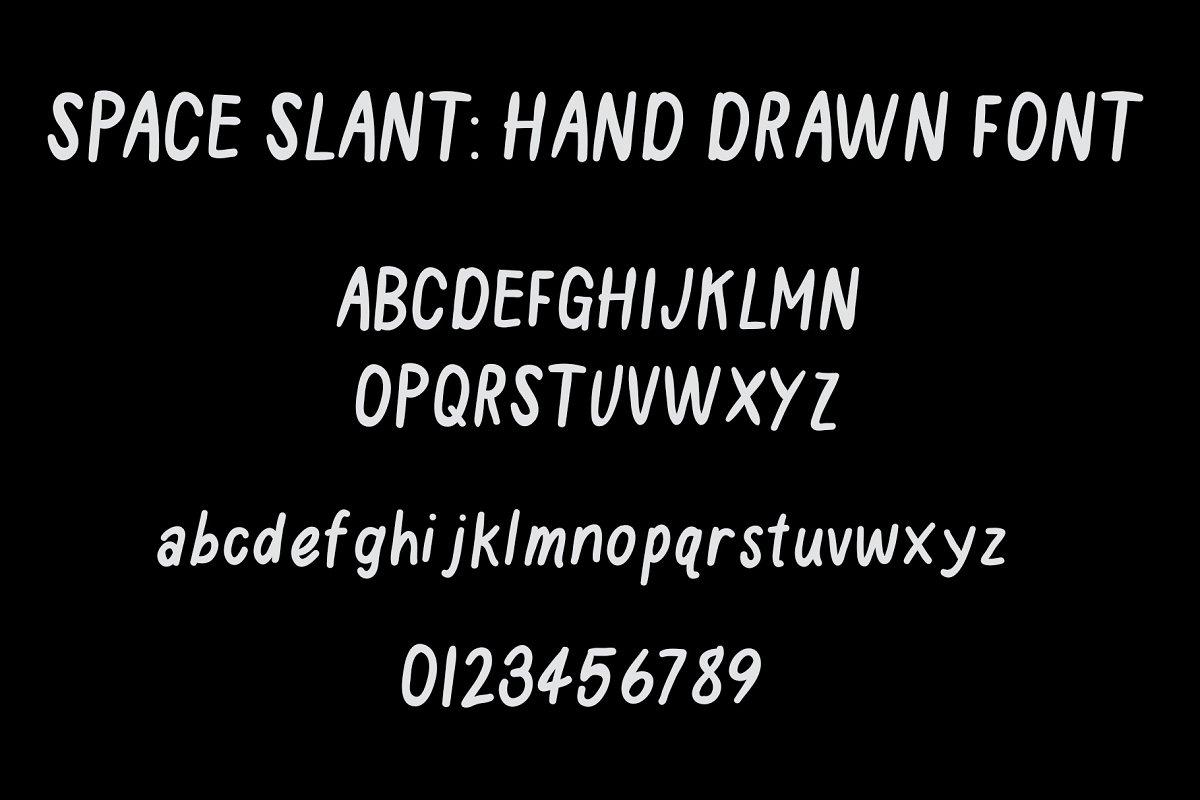 Space Slant Hand Drawn Font