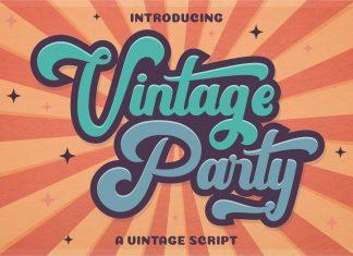 Vintage Party - Bold Retro Script