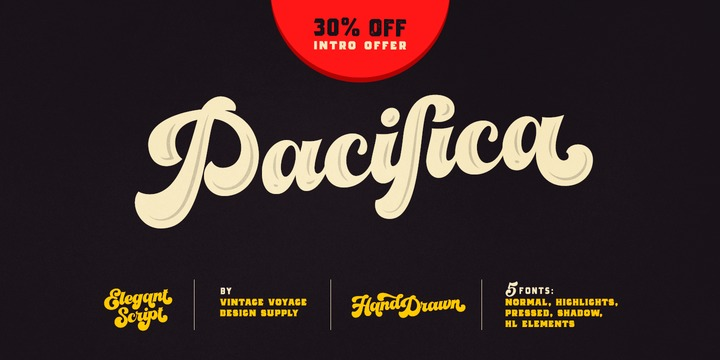 VVDS Pacifica Font Family