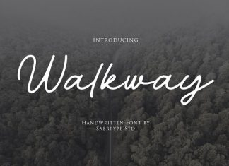 Walkway Font + Bonus Vector