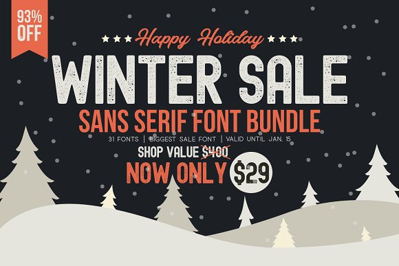 WINTER SALE - Sans Serif Bundle!