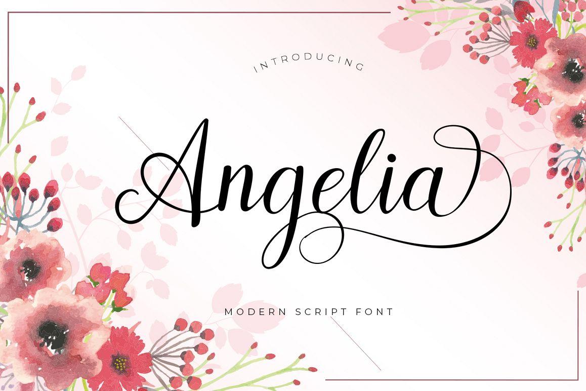 Angelia Script Font