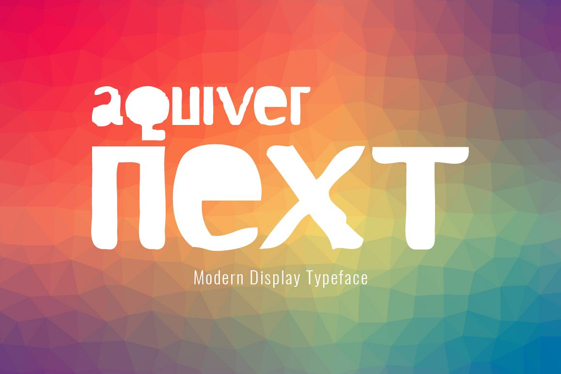 Aquiver Next Regular Font