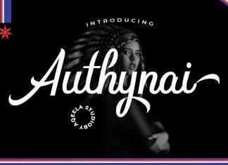 Authynai Script Font