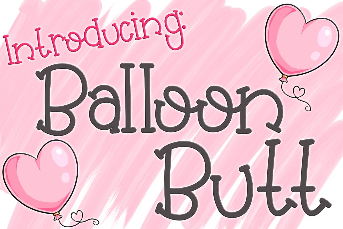 Balloon Butt Font Regular Font