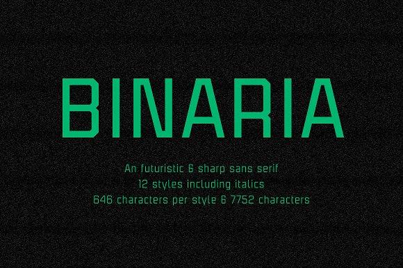 Binaria Font Family