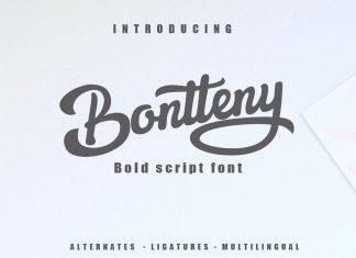 Bontteny Script Font