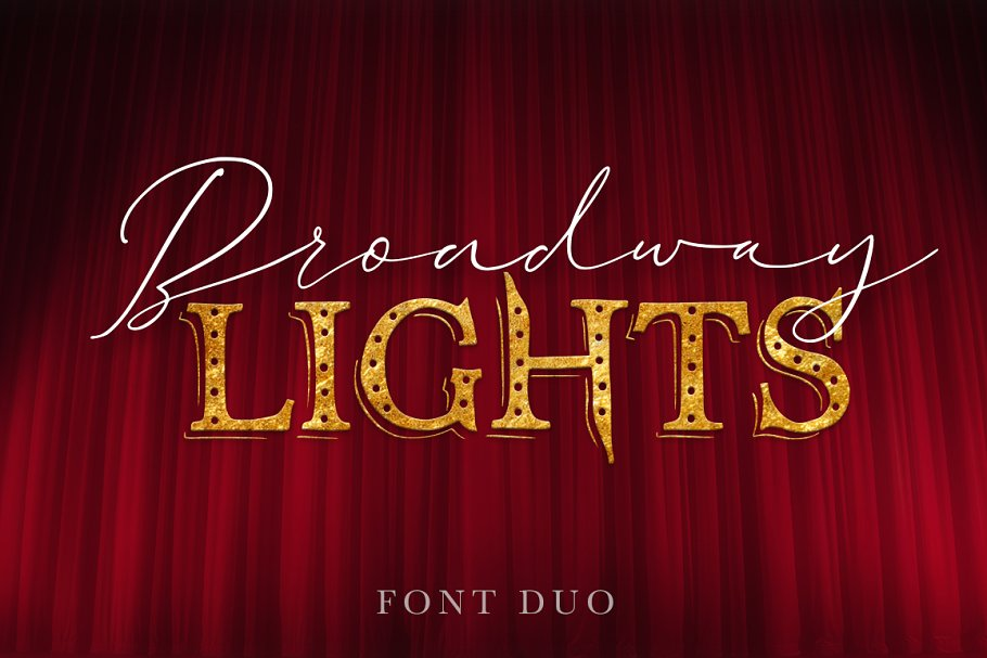 Broadway Lights | Duo Font.