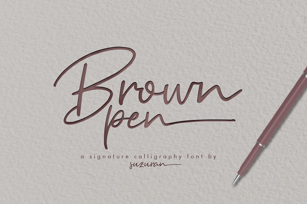 Brown Pen Script Font