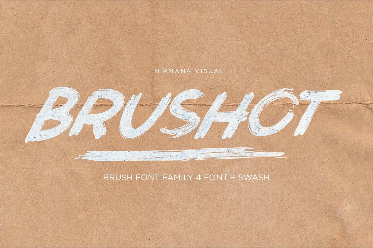 Brushot 4 Font Plus Swash