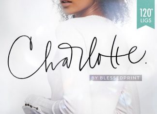 Charlotte Script with 120 ligatures