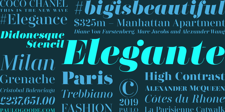 Didonesque Stencil Font Family