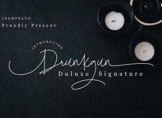 Drunkgun Script Font