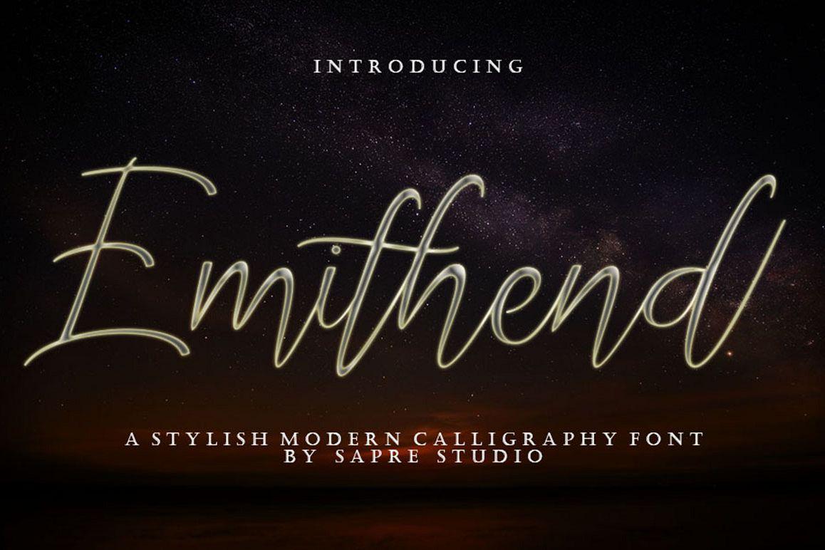 Emithend Script Font