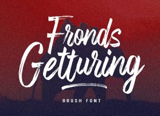 Fronds Getturing Font