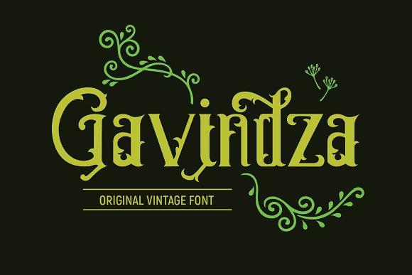 Gavindza Font