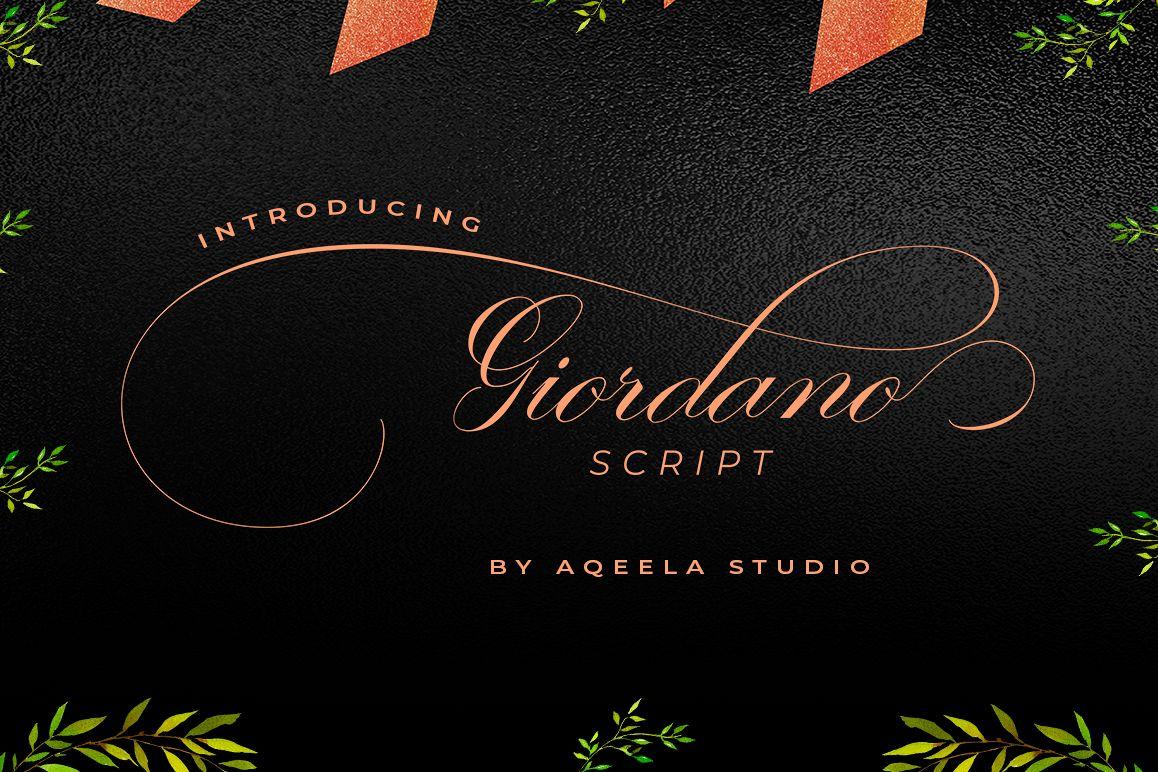 Giordano Script Font