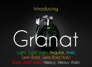 Granat Family Font