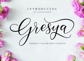 Gresya Script Font