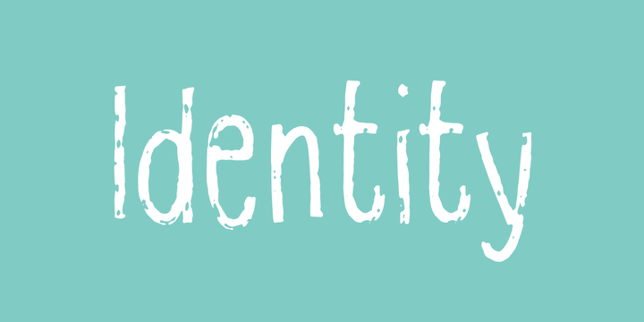 Identity Font Family